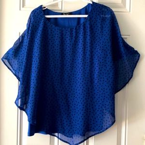 Lily Morgan Butterfly Sleeve Blouse with Tank XL